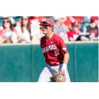Arkansas infielder Hunter Wilson