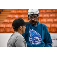 Brandon Robinson with the Rochester Knighthawks