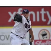 Somerset Patriots pitcher Aaron Laffey