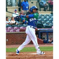 Ricky Aracena of the Lexington Legends takes a swing