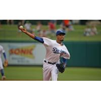 Oklahoma City Dodgers pitcher Dennis Santana