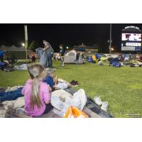 Watching a movie at Joliet Route 66 Stadium