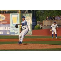 Lexington Legends pitcher Janser Lara prepares to throw