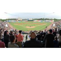 Sellout crowd at Bethpage Ballpark, home of the Long Island Ducks