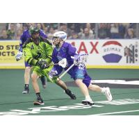 Kyle Jackson of the Rochester Knighthawks vs. the Saskatchewan Rush