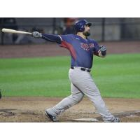 Kyle Roller at the plate for the Somerset Patriots