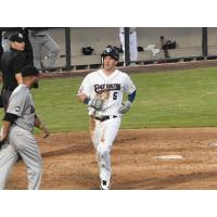 Mike Fransoso scores for the Somerset Patriots