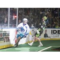 Graeme Hossack of the Rochester Knighthawks celebrates a goal