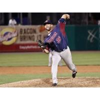 Somerset Patriots pitcher Duane Below delivers