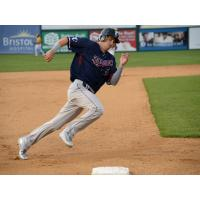 Somerset Patriots infielder Mike Fransoso rounds the bases