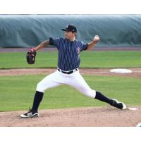 Syracuse Chiefs pitcher Tommy Milone hurled six and two-thirds innings of two-run ball Tuesday night