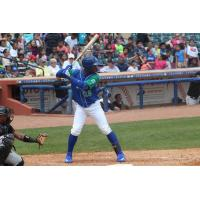 Seuly Matias of the Lexington Legends ready for a pitch