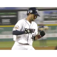 Adam Weisenburger of the Somerset Patriots rounds the bases