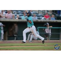 Leonardo Molina of the Charleston RiverDogs rounds third
