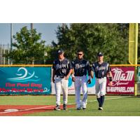 Brazos Valley Bombers walk off the field