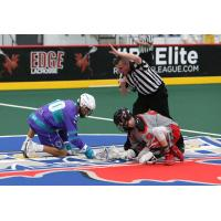 Rochester Knighthawks face off