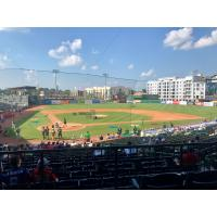 Warmup at the South Atlantic League All-Star Game at Greensboro, NC