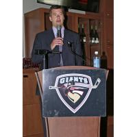 Vancouver Giants head coach Michael Dyck