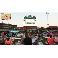Spectators at Donatos Family Movie Night at Fifth Third Field