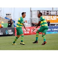Tampa Bay Rowdies celebrate a goal vs. Toronto FC II