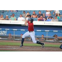 Andrew Stevenson of the Syracuse Chiefs homers