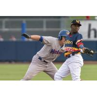 Errol Robinson of the Midland RockHounds vs. the Tulsa Drillers