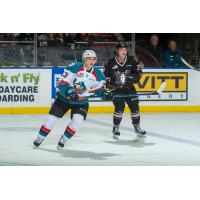 Forward Colum McGauley with the Kelowna Rockets