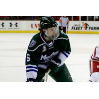 Defenseman Zach Todd with Mercyhurst University