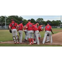 Acadiana Cane Cutters break their huddle