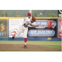Spokane Indians pitcher Hans Crouse delivers on Star Wars Night