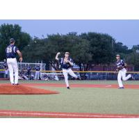 Brazos Valley Bombers infield play