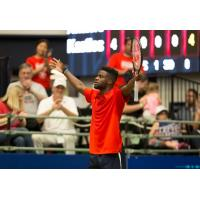 Frances Tiafoe of the Washington Kastles plays to the crowd