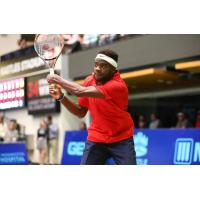 Frances Tiafoe of the Washington Kastles returns a shot