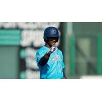 Josh Stowers of the Everett AquaSox