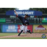 Charleston RiverDogs pitcher Deivi Garcia delivers