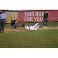 Wisconsin Rapids Rafters outfielder Brody Wofford slides into second