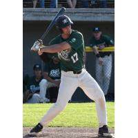 Tommy Ahlstrom batting for the Medford Rogues