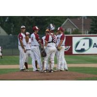 Wisconsin Rapids Rafters conference on the mound