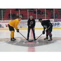 Ceremonial Puck Drop of Austin Bruins Team Black vs. Gold All-Star Challenge