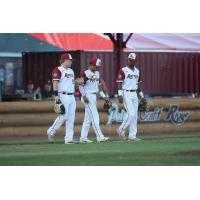 Wisconsin Rapids Rafters enter the field