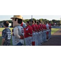 Acadiana Cane Cutters during the National Anthem