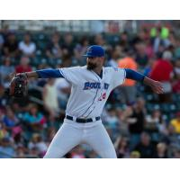Rockland Boulders pitcher Garrett Johnson