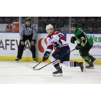 Forward Zane Franklin from with the Lethbridge Hurricanes