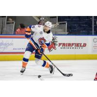 Forward Kyle Schempp with the Bridgeport Sound Tigers