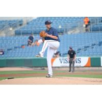 Kyle McGowin of the Syracuse Chiefs threw a quality start, allowing just two runs and three hits in seven innings