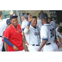 Pedro Severino of the Syracuse Chiefs hit a walk-off sacrifice fly in the 12th inning, part of a two-hit day