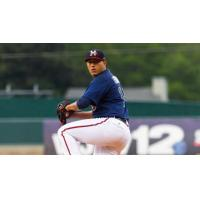 Mississippi Braves pitcher Enderson Franco