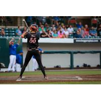 Brenna Moss batting for the Chicago Bandits