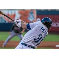 D.J. Peters of the Tulsa Drillers at bat