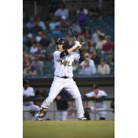 New Orleans Baby Cakes outfielder J.B. Shuck at bat